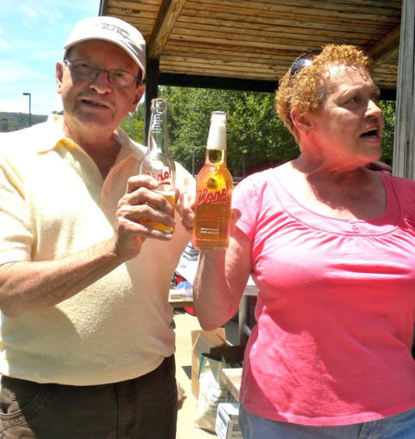Claro Beer Orrahood Family Reunion Picture of Relatives drinking Claro Beer